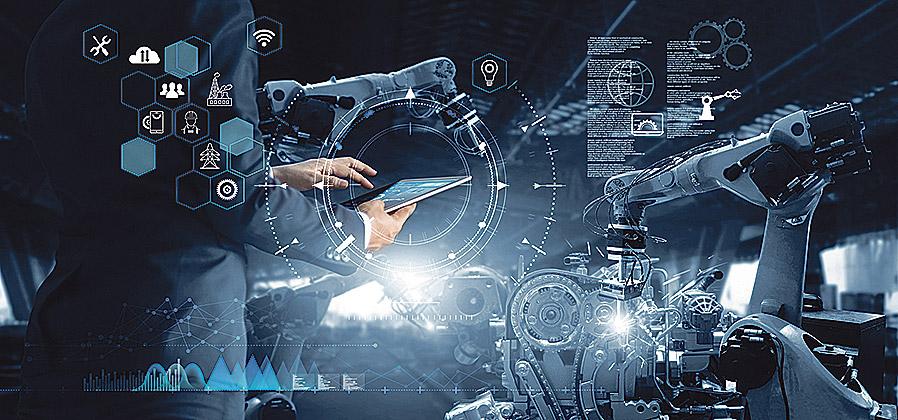 abstrakte Darstellung von Software und Arbeitsprozessen