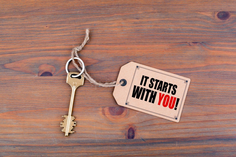 Scchlüssel mit Anhänger, auf dem