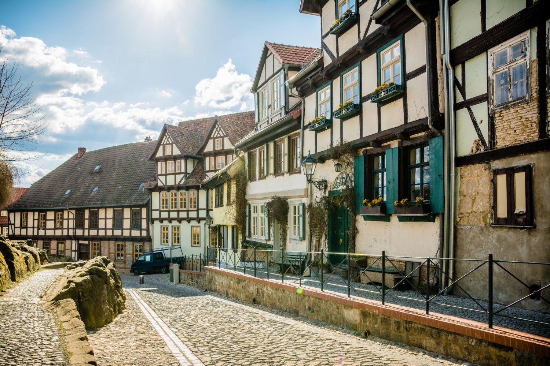 Quedlinburger Innenstadt. Thema: Standort Sachsen-Anhalt