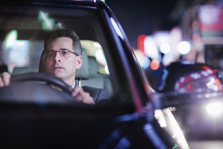 Autofahrer am Steuer; Thema: Flottenmanagement
