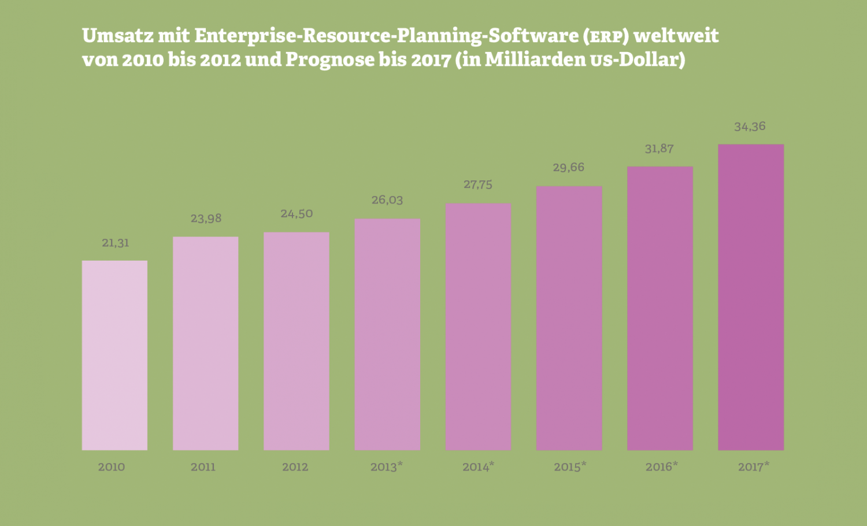 Grafik: Umsatz mit ERP-Software